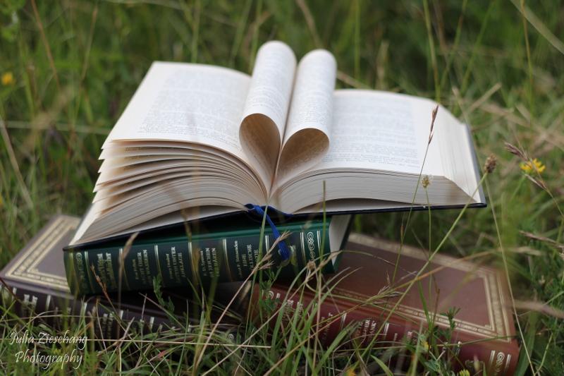 Aufgeschlagenes Buch Herz