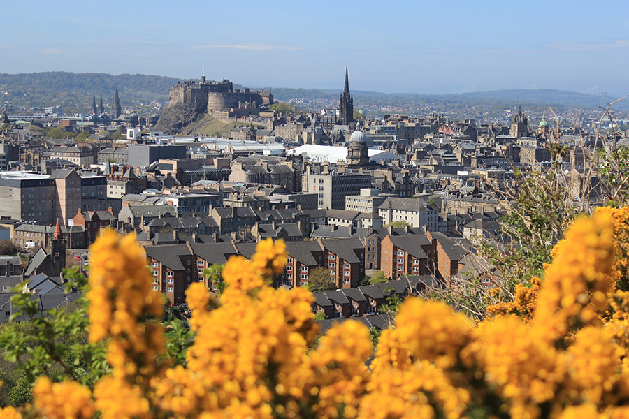 View from Arthur's Seat to Edinburgh Castle